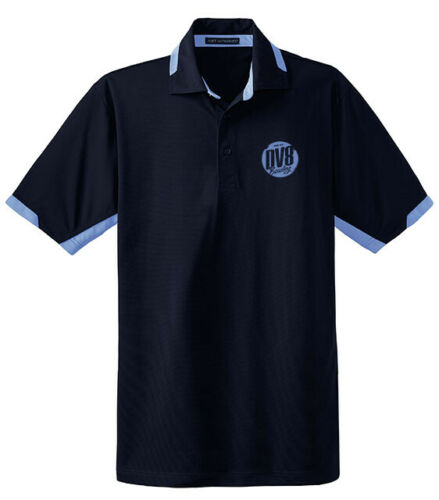 DV8 Men/'s Frequency Performance Polo Bowling Shirt Colorblock Navy Blue