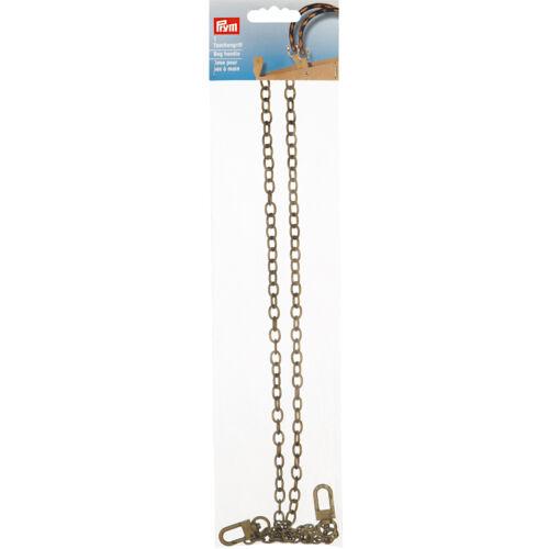 Prym bolsillos pinzamiento Leandra ALT de latón 1 pieza de metal bolsillos henkel cadena 615173