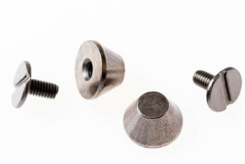 100 X Cubo Hongo Cono Punk Spike Tornillo studs//rivets Brass-Reino Unido Vendedor
