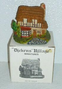 Dept-56-Dickens-Village-Miniatures-GREEN-GROCER-Vtg-1986-Handpainted-2-75-034