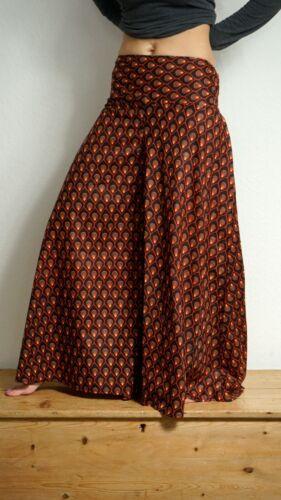 Palazzo Pantaloni Extra Wide Leg Pavone Stampa Hippy Boho Baggy Pantaloni Harem Cotone