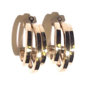 14k-yellow-gold-Hoop-earrings-enhancer-jacket-2-9g-vintage-estate-antique-womens