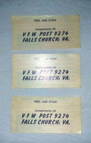 VFW POST FALLS CHURCH VA. Details about  /FREE THE HOSTAGES STICKERS