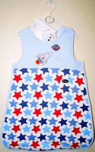 BABY BONITO® Blue Sleep Bag Space Rocket/Star Design 2.5 Tog Side Zip & Poppers
