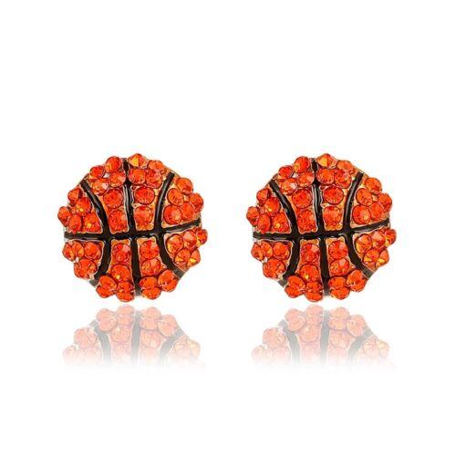 1 Paire Fashion Sport Basketball Ballon de football Clous d/'oreilles 3D Hémisphère Cadeau