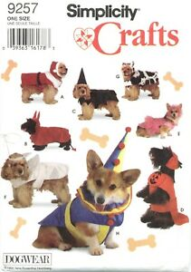 Simplicity-9257-DOGWEAR-Dog-Pet-Costume-Santa-Angel-Clown-pattern-UNCUT-FF-NEW
