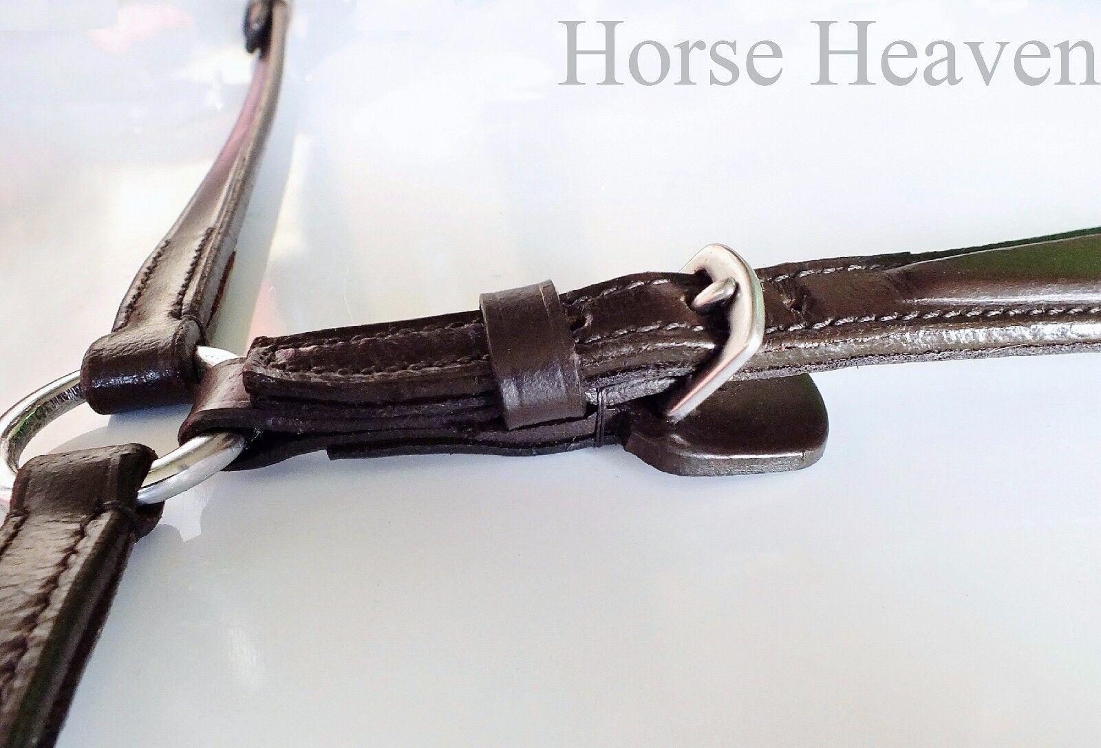 SHP Hanoverian Dressage & Training Bridle Mono-Crown Adjustable & Adjustable Mono-Crown Drop Noseband 3f24cb