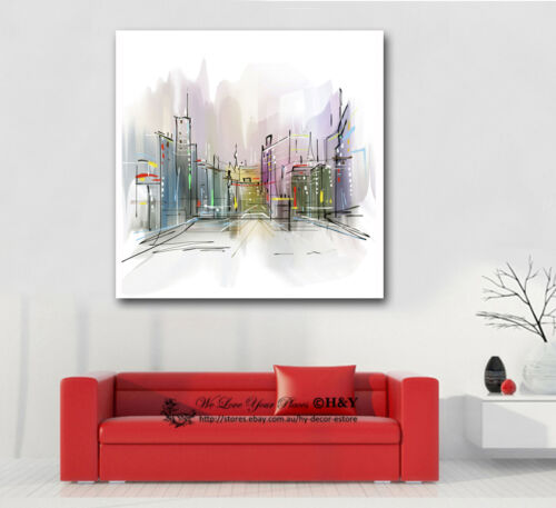 """/""""Play Ground/"""" Flowers Stretched Canvas Print Framed Wall Art Home Decor Painting"""