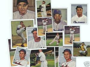 1950-Bowman-Reprint-MINT-Partial-Set-in-Collectors-Box-amp-Mickey-Mantle-Bonus