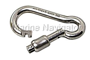 Boat Hooks Water Sports Pack Of 4 AISI 316 Marine Grade Stainless Steel Boat Sailing Carbine Hook 12mm