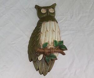 Image Is Loading Vintage Sexton 1969 Metal Owl Wall Art