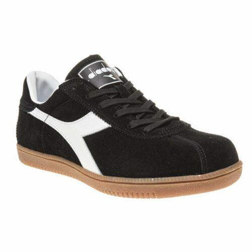 Nuevas zapatillas para hombre gamuza Diadora Negro Tokio con cordones