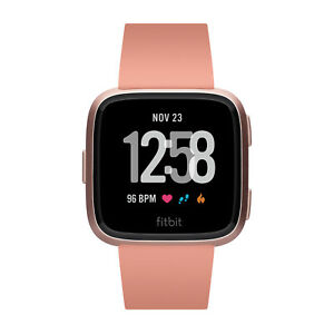 Fitbit B504 Rgpk Versa Smart Watch, Peach/Rose Gold by Fitbit