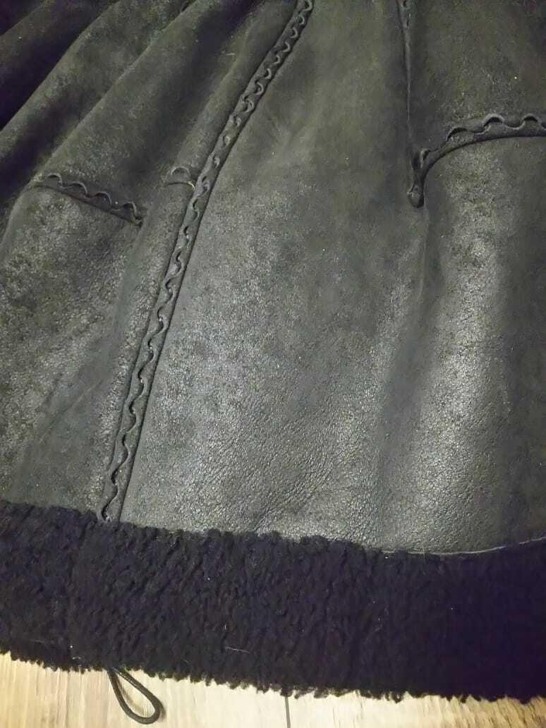 Alaia black  suede-Leather Shearling Princess Ple… - image 9