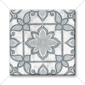 Image Is Loading Ceramic Tile Moroccan Design Vintage Colors Grey