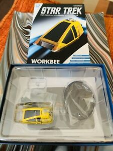 Eaglemoss-Star-Trek-Shuttle-Starfleet-Work-Bee-New-W-Mag