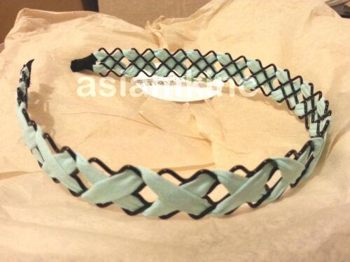 Imported Fad Headband Cross Leather SnowFlower Cotton Yarn ONE SIZE
