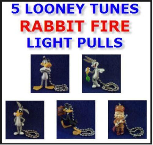5 NEW LOONEY TUNES RABBIT FIRE FIGURE LIGHT LAMP FAN PULL CONNECTORS YOU PICK