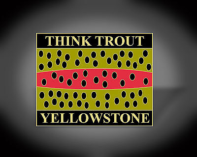 FLY FISHING YELLOWSTONE CUTTHROAT TROUT LAPEL HAT PIN GIFT WEARABLE ART