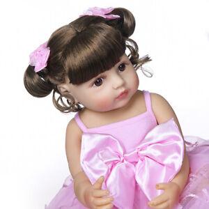 55cm Full Body Silicone Vinyl Reborn Girl Newborn Toddler Baby Waterproof Doll