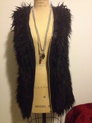 Democracy of Nevermind Faux Fur Vest Black for Barney's COOP Sold Out!!! Sz S