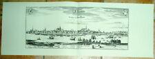 Rostock: alte Ansicht Merian Druck Stich 1650