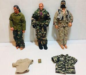 Lot de 3 figurines d'action Vintage de 1992 et 1996, Gi Joe, Snake Eyes Spirit 12 pouces