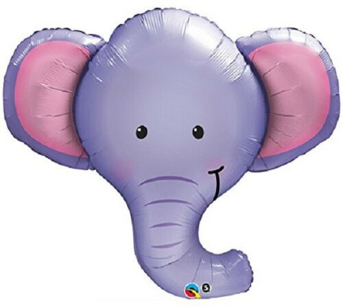 "XL 39/"" Ellie The Elephant Super Shape Mylar Foil Balloon Party Decoration"