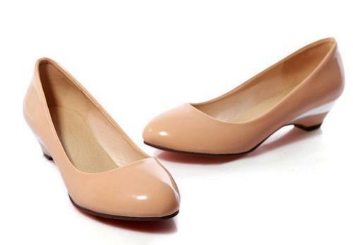 Women's Comfort Block Low Low Low Heel Sweet Pointy Toe Slip On Loafer Pumps shoes @caca 253f08
