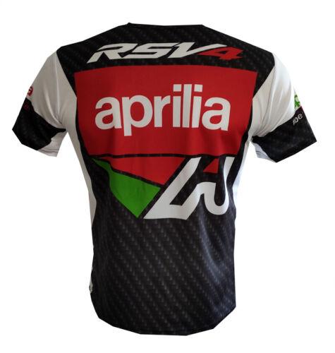 Aprilia T-shirt Camiseta Maglietta Motorrad Motorcycle Biker RSV4 Tuono Caponord