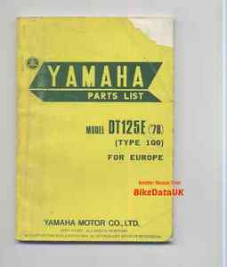 Yamaha-DT125E-1978-gt-gt-Genuine-Parts-List-Catalogue-Manual-Book-DT-125-1G0-CE49