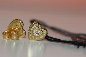 Details About Authentic Pandora Shine Signature Heart Stud Earrings W Cz 267382cz Tag Box