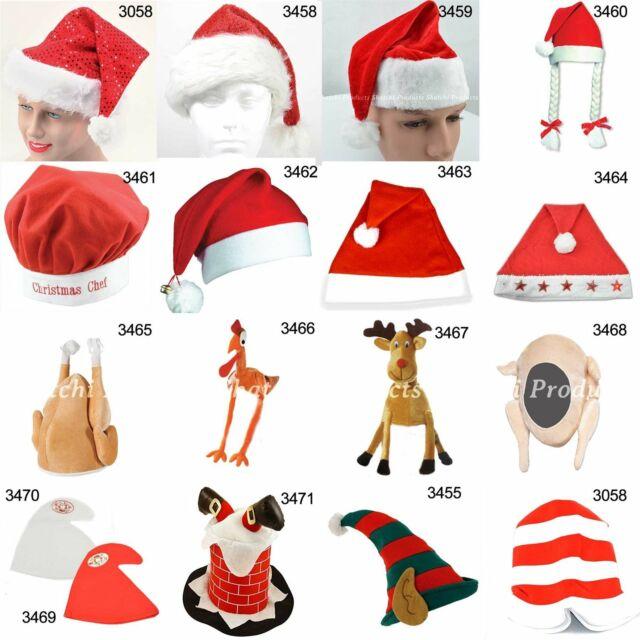 Stuffed Turkey Hat Christmas Fancy Dress Accessory Chefs Hat