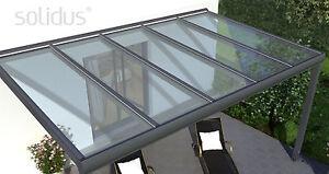 Terrassendach Aus Aluminium Mit Vsg Glas Kompl Neu ~ TerrassenÜberdachung alu terrassendach vorbereitet für vsg glas