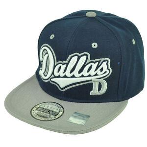Dallas Texas City 3D Logo Snapback Flat Bill Brim Landscape Print ... 0bcc52405296