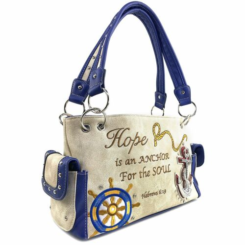 Justin West Concealed Carry Hope is an Anchor for the Soul Hebrew 6:19 Handbag