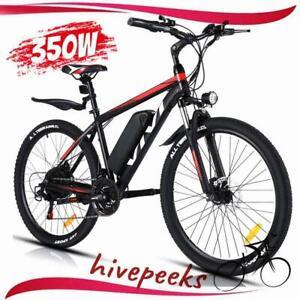 "350W 26"" Electric Bike Mountain Bicycle Commuter Ebike Shimano Li-Battery Bikes"