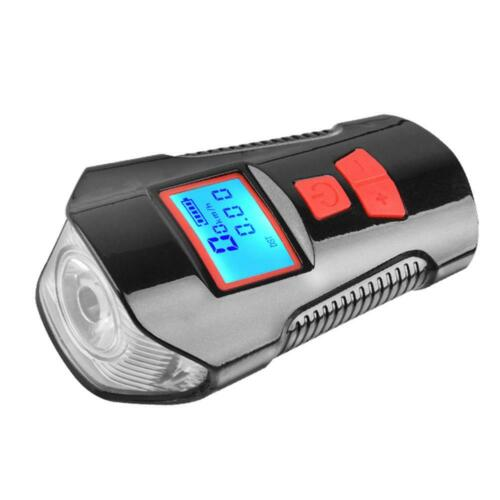 3 in 1 USB Rechargeable LED Bike Front Light+Bicycle Computer+Electric Bell JF#E