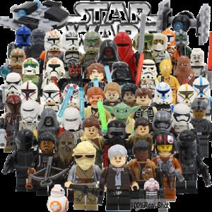 STAR WARS Minifigures custom tipo Lego skywalker darth vader han solo obi yoda