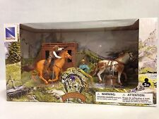 Big Country Western Cowboy Set, Stagecoach w/ Horses, Wagon Playset, Gunfighters