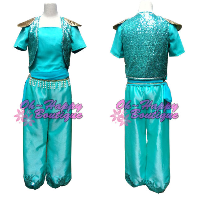 adult shimmer and shine cosplay costume fairy tale green dress up costume party