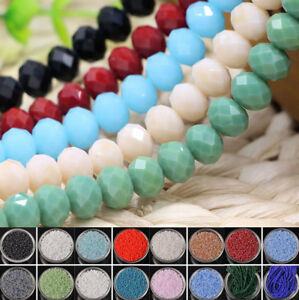 Lots-Wholesale-Rondelle-Faceted-Crystal-Glass-Loose-Spacer-Beads-3-4-6-8-10mm