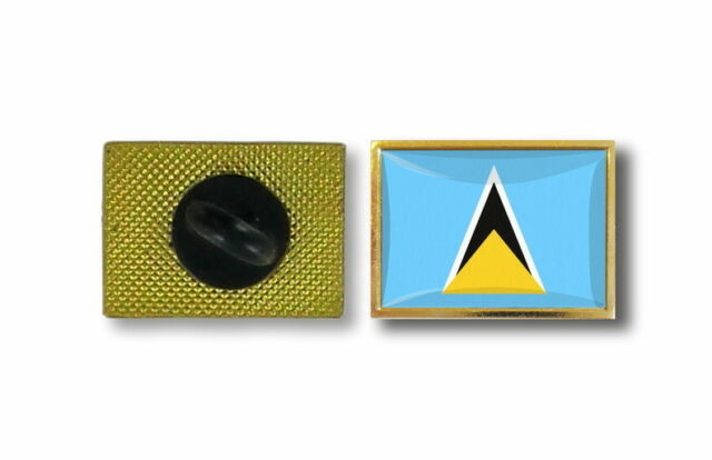 pins pin's flag national badge metal lapel backpack hat button vest saint lucia