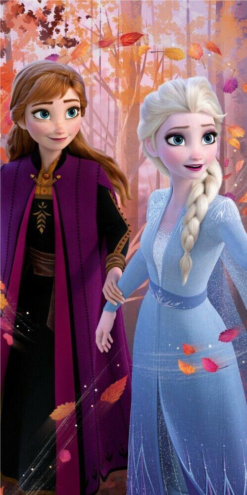 Disney Frozen Bath Beach towel 140 x 70 cm 100% Cotton Princesses Anna & Elsa