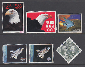 US-Sc-2540-2541-2543-2544-2544b-2592-used-1991-94-High-Values-6-different-F-VF