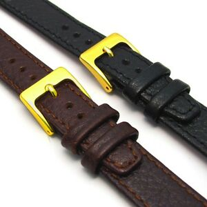 Open-Ended-Leather-Watch-Band-Strap-16mm-18mm-20mm-for-Vintage-Watches-D003