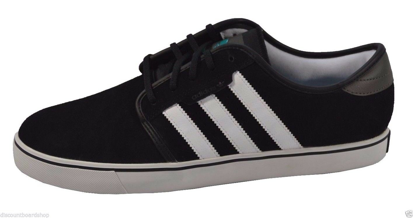 Adidas SEELEY Black Running White Teal (210) Men's shoes's