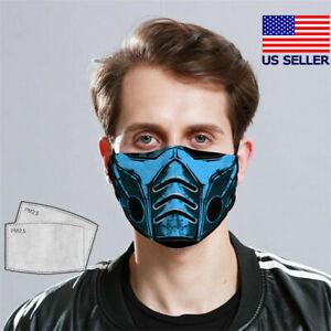 Sub Zero Vintage Face Mask Mortal Kombat Mask Fabric Washable New