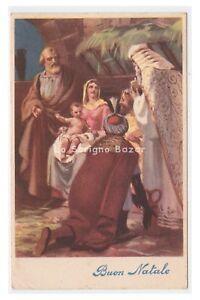 1950-Card-Tableware-Christmas-Nativity-re-Magi-Holy-Family-Nativity