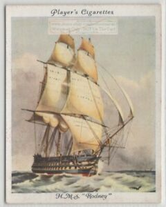 1833-HMS-034-Rodney-034-Second-Rate-Ship-Royal-Navy-1930s-Trade-Card
